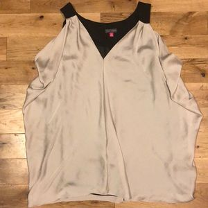 Vince Camuto Silver Sleeveless Blouse